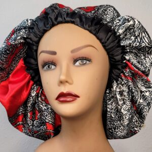 Chinenye Ankara Silk Lined Bonnet